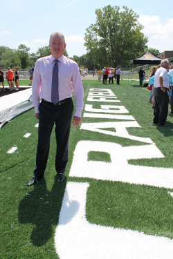 Steven L. Craig added to his support of Missouri Western in 2015 with a gift to support MWU athletics. The university named Craig Field in his honor.